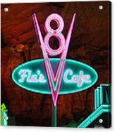 Flo's V8 Cafe - Cars Land - Disneyland Acrylic Print by Heidi Smith