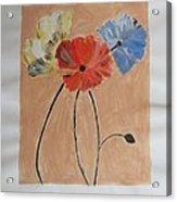 Flower And Bud Acrylic Print