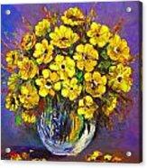 Flower Are Yellow Acrylic Print