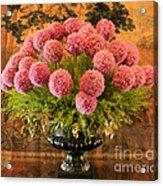 Flower Arrangement Chateau Chenonceau Acrylic Print