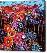 Flower Garden Acrylic Print by Karen Elzinga
