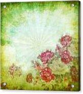Flower Pattern On Paper Acrylic Print by Setsiri Silapasuwanchai