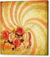 Flower Pattern Retro Style Acrylic Print