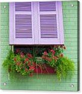 Flower Pot Window Acrylic Print