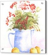 Flowers And Lemons Acrylic Print