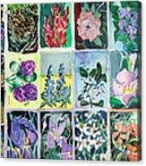 Flowers Flowers Flowers Acrylic Print