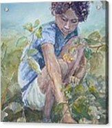 Flowers For Her Hair Acrylic Print by Dorothy Herron