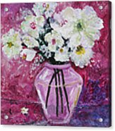 Flowers In A Magenta Room Acrylic Print