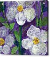 Flowers In Moonlight Acrylic Print