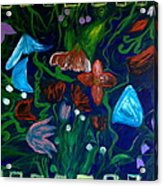 Flowers In The Garden Acrylic Print by Pretchill Smith