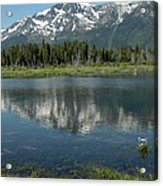 Flowers On The Lake Acrylic Print