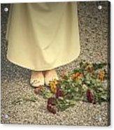 Flowers On The Street Acrylic Print by Joana Kruse