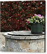 Flowers On The Well Acrylic Print
