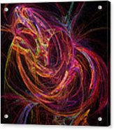 Flowing Energy Acrylic Print