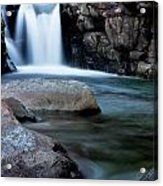 Flowing Falls Acrylic Print by Justin Albrecht