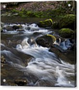 Flowing Love Acrylic Print by Victoria Ashley