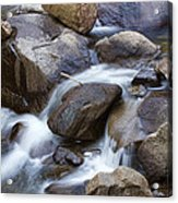 Flowing Water Down The Colorado St Vrain River Acrylic Print