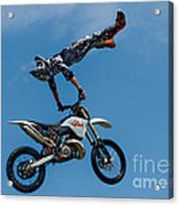Flying High Motorcyle Tricks Acrylic Print