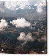 Flying Over Spanish Land Iv Acrylic Print