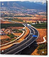 Flying Over Spanish Land V Acrylic Print