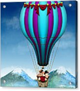 Flying Pig - Balloon - Up Up And Away Acrylic Print