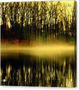 Fog At  Farrington Lake Acrylic Print