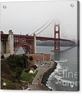 Fog At The San Francisco Golden Gate Bridge - 5d18868 Acrylic Print by Wingsdomain Art and Photography