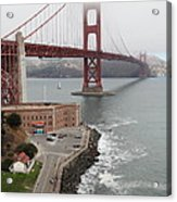 Fog At The San Francisco Golden Gate Bridge - 5d18872 Acrylic Print by Wingsdomain Art and Photography