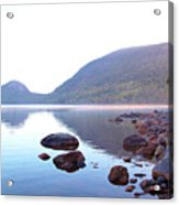 Fog Lifting Over Jordan Pond Acrylic Print by Thomas Northcut