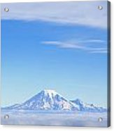 Fog, Mount Rainier, Washington Acrylic Print