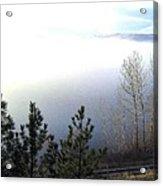 Fog On Wood Lake Acrylic Print