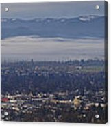 Fog Over A Grants Pass Morning Acrylic Print