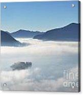 Fog Over Islands Acrylic Print