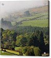 Fog Rolling Into Nire Valley Clonmel Acrylic Print