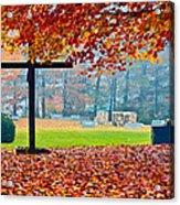 Foggy Autumn Cemetery Acrylic Print
