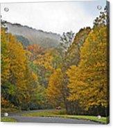 Foggy Autumn Day Acrylic Print