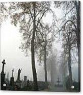 Foggy Cemetery Acrylic Print