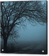 Foggy Country Road Acrylic Print
