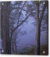 Foggy Fall Morning Acrylic Print