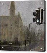 Foggy Herne Bay 1 Acrylic Print