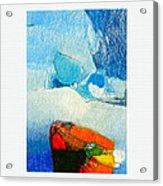 Foggy Hot Mesa With Center Acrylic Print