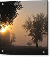 Foggy Morn Street Acrylic Print