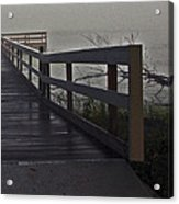 Foggy Morning On The Dock Acrylic Print