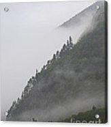 Foggy Mountain Acrylic Print