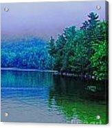Foggy Mountain Pond Acrylic Print
