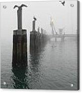 Foggy Pier Acrylic Print
