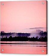 Foggy Pink Morning Acrylic Print