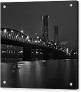 Foggy Portland Night Acrylic Print