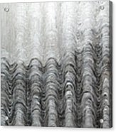Foggy Silver Mountain Range Acrylic Print