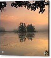 Foggy Summer Sunrise At Harvard Pond Acrylic Print
